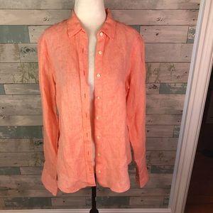 Jcrew Irish linen perfect shirt in size 10
